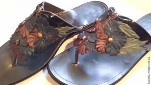 Декорируем старую обувь