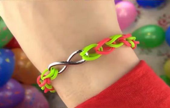 Rainbow Loom Узкие браслеты