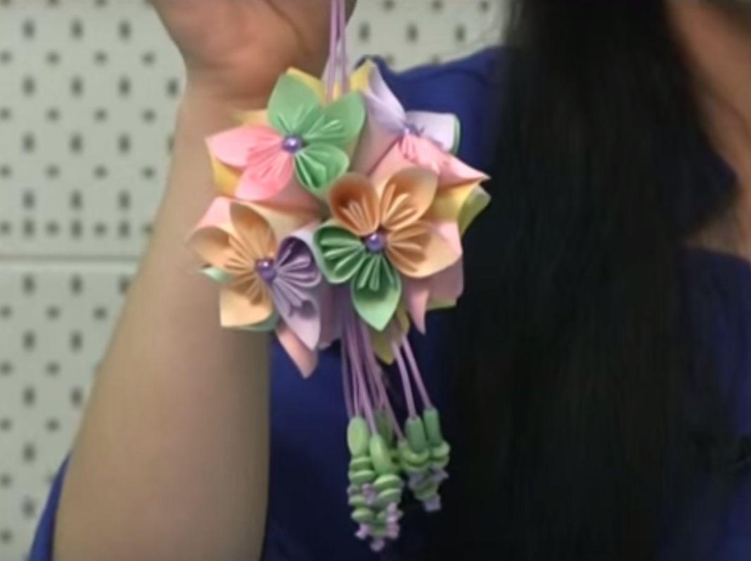 Кусудама - шар из цветов