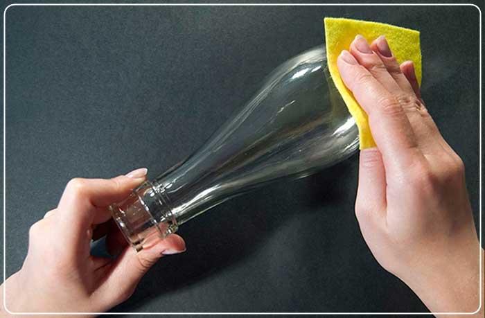 Имитация витража на бутылке