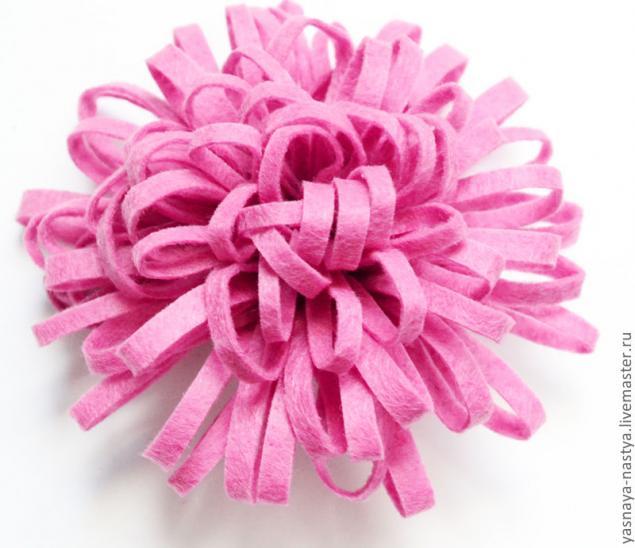 Цветок из фетра - быстро, просто и красиво!