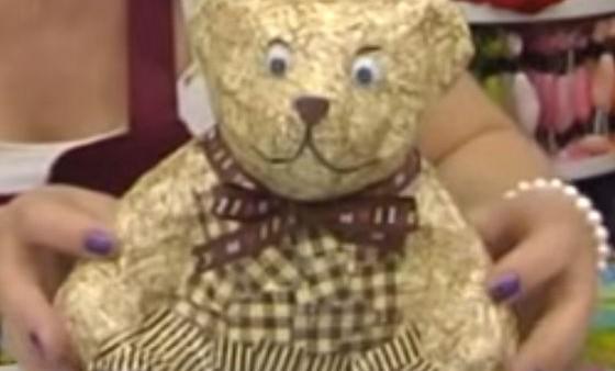 Декупаж игрушечного медведя